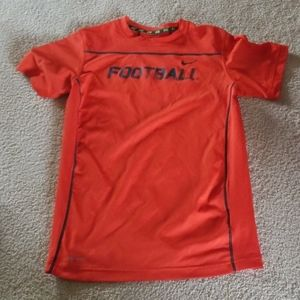 Nike dri fit football tee size large